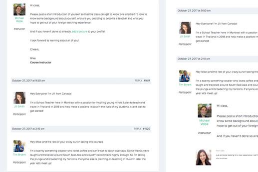 Interactive Forums and Peer Feedback